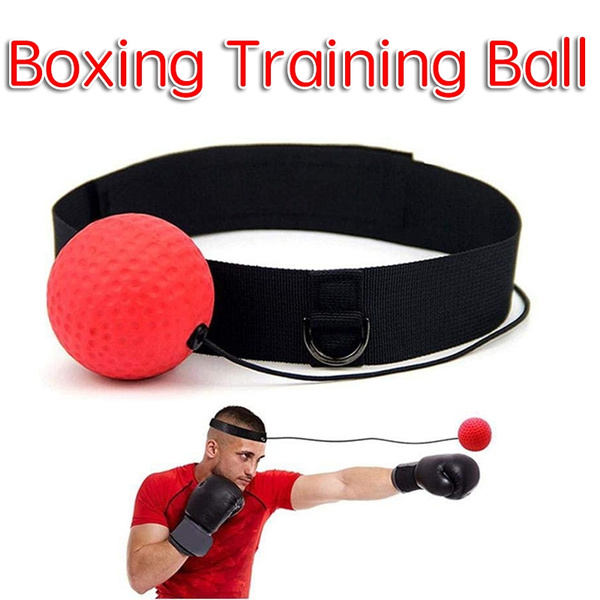 Fight Ball Reflex Boxing Training Boxer Speed Punch Head Cap String Ball Trainer