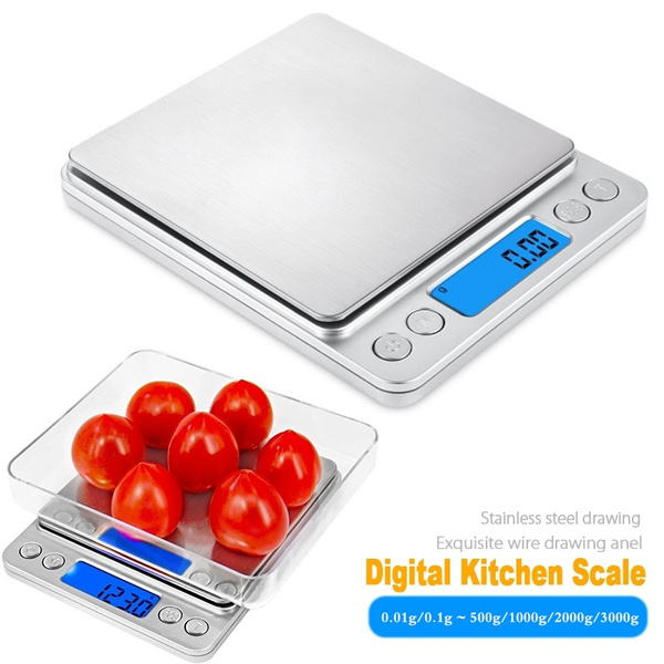 98bfc07a00dd Digital Kitchen Scale, 500/1000/2000/3000G Mini Pocket Jewelry Scale,  Cooking Food Scale with Back-Lit LCD Display, 2 Trays, 6 Units, Auto Off,  Tare, ...