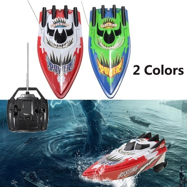 Double Motor Racing Boat Remote Control Boat Kids High Speed Radio  Speedboat Navigation Waterproof RC Ship Model Xmas Gift Toys For Children