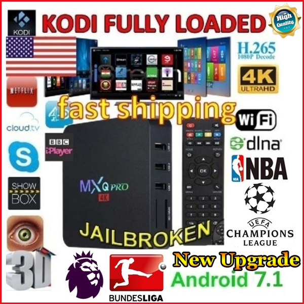 New Upgrade MXQ PRO Android 7 1 TV Box KODI Player 17 4 Amlogic S905X Quad  Core 1GB+8GB 4K 2 4GHz WiFi 3D HD Media Player