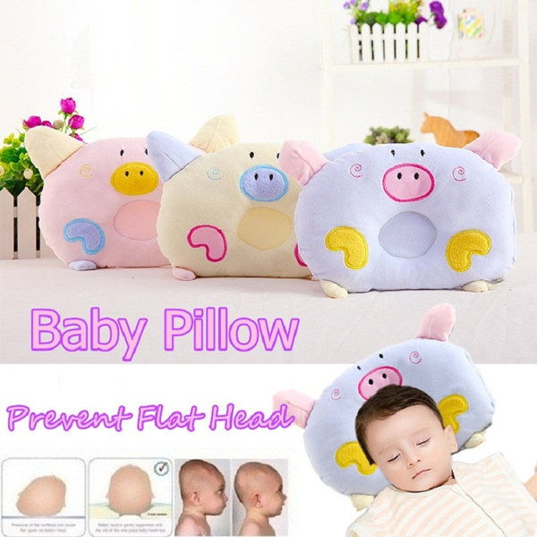 Cute Pig Soft Pillow Newborn Infant Baby Support Cushion Pad Prevent Flat Head
