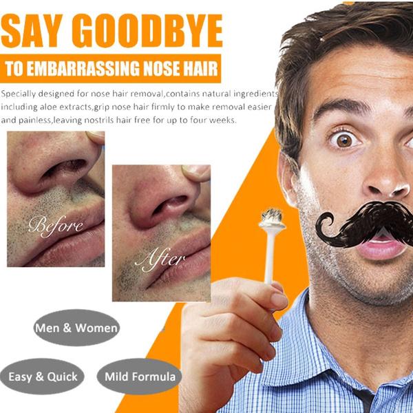 Nose Ear Hair Removal Wax Kit Painless Easy Mens Nasal Waxing Wish