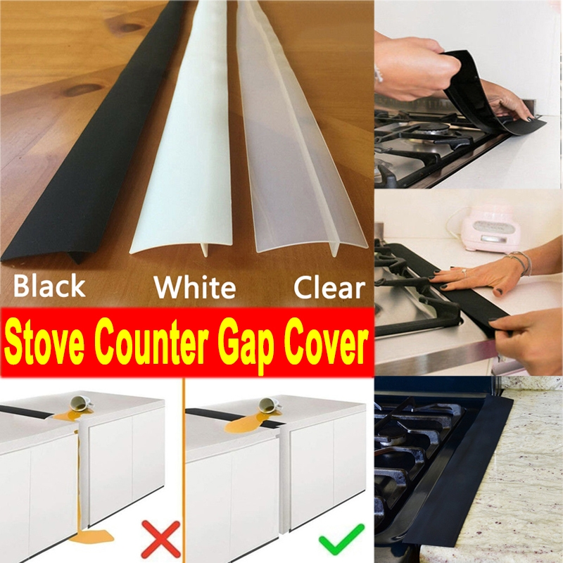 1x Silicone Kitchen Stove Counter Gap Cover Oven Guard Spill Seal Filler Healthy