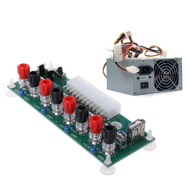 24 Pins ATX Benchtop Power Board Computer Connector Power Supply Adapter AIP