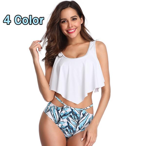 6e4b377a577 HeartMove 2019 New Bikinis Women Swimsuit Top Ruffled Racerback with ...