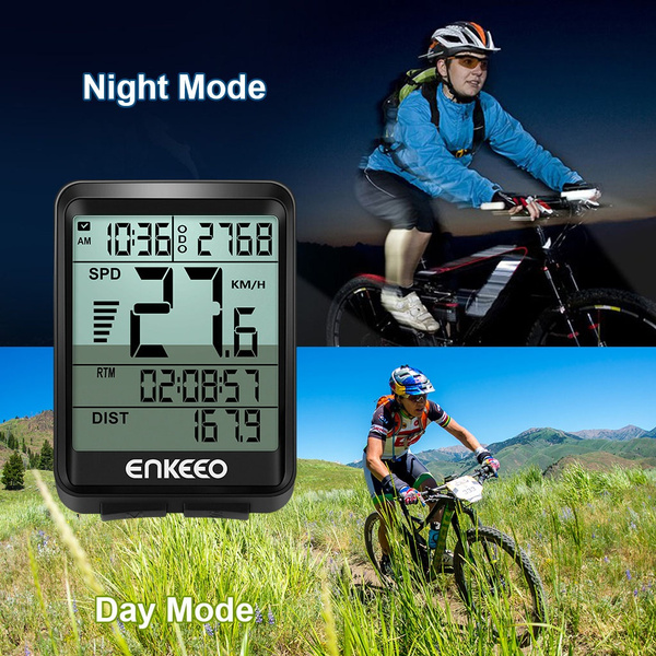 Current//AVG//MAX Speed Tracking Speedometer Enkeeo Wired Cycling Bike Computer