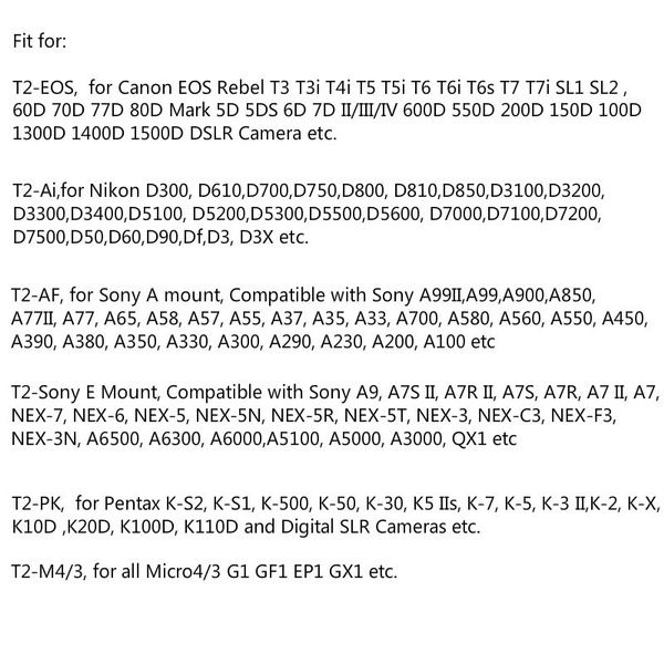 Lightdow 420-800mm F/8 3-16 Super Telephoto Lens Manual Focus Zoom Lens +  T-Mount Adapter for Nikon Canon Sony Pentax M4/3 SLR DSLR Camera