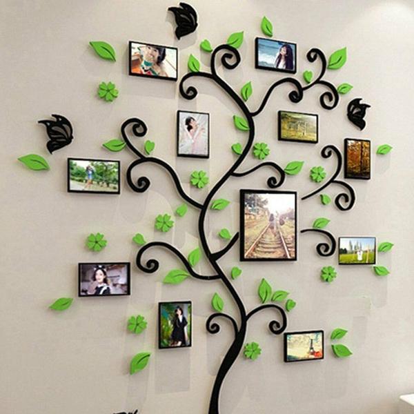 Wall, Photo, Stickers, Tree