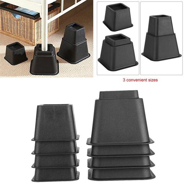Super 8Pcs Bed Risers Set Chair Furniture Lift Blocks Elephant Feet Machost Co Dining Chair Design Ideas Machostcouk