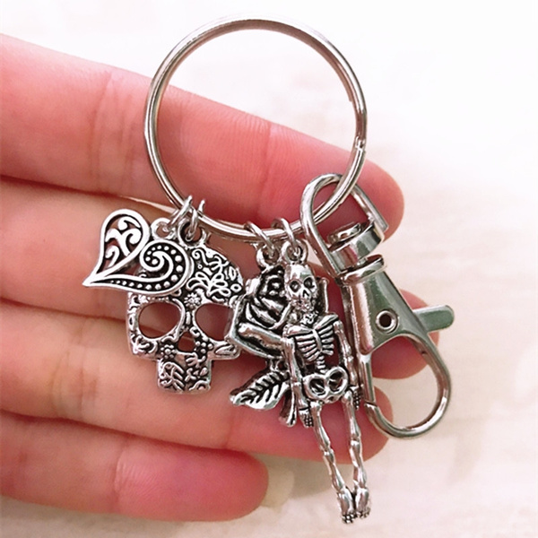 Goth, Flowers, Key Chain, Gifts
