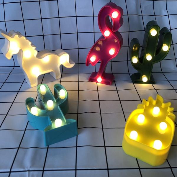 nightlamp, flamingo, lednightlight, Christmas