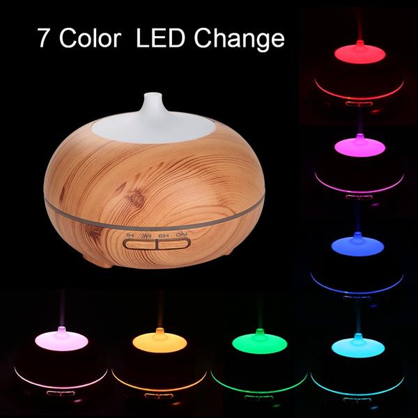 300ML Ultraschall Luftbefeuchter 7 LED Farben Aroma Diffuser Aromatherapie