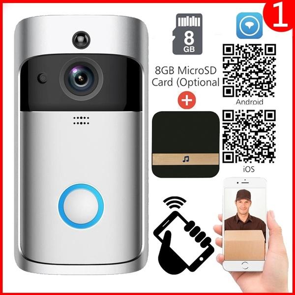 2019 NEW 1080P WiFi Smart Wireless Security DoorBell HD Visual Intercom  Recording Video Doorphone with Indoor Chime Night Vision PIR Detection APP