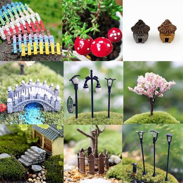 58x Miniature Fairy Garden Ornament Pot DIY Craft Accessories Dollhouse decor PQ