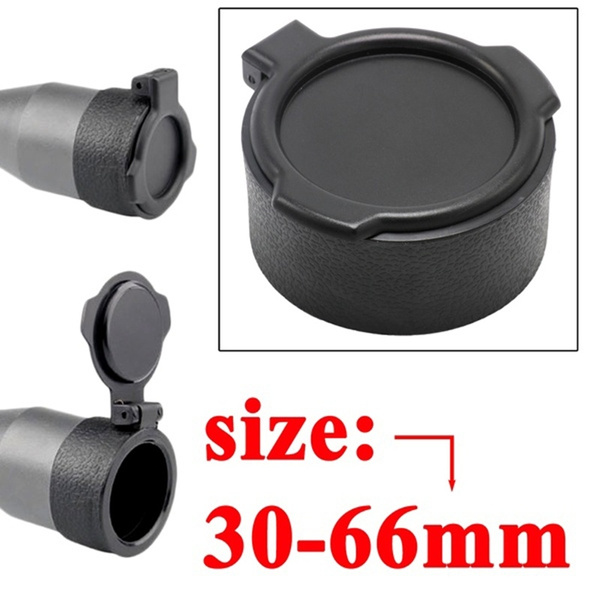 30-66mm PP Lens Cover Rifle Scope Protect Cap Caliber Quick Flip Spring Up Open