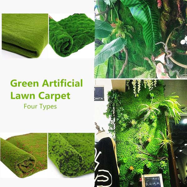 Christmas Moss Carpet.1m 1m Christmas Easter Straw Mat Green Artificial Lawn Carpet Fake Turf Home Garden Moss Home Floor Diy Wedding Decoration Grass