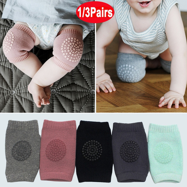 Safety Anti-Slip Leg Warmer Baby Sock 8 Pairs Baby Crawling Knee Pads