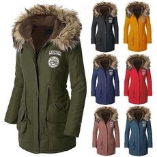 Plus Size, fur, Winter, Coat
