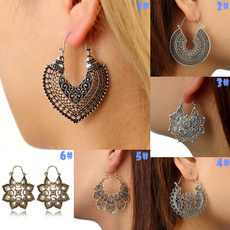 bohemia, Antique, Hoop Earring, Dangle Earring