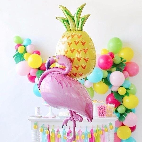 Cactus Pineapple Balloons Birthday Party Flamingo Balloon Decor Hawaiian Luau Decoration