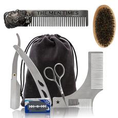 beardbrush, Razor, beardcombcareset, Stainless Steel