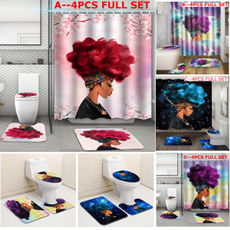 bathroomaccessarie, Rugs & Carpets, Waterproof, Shower Curtains