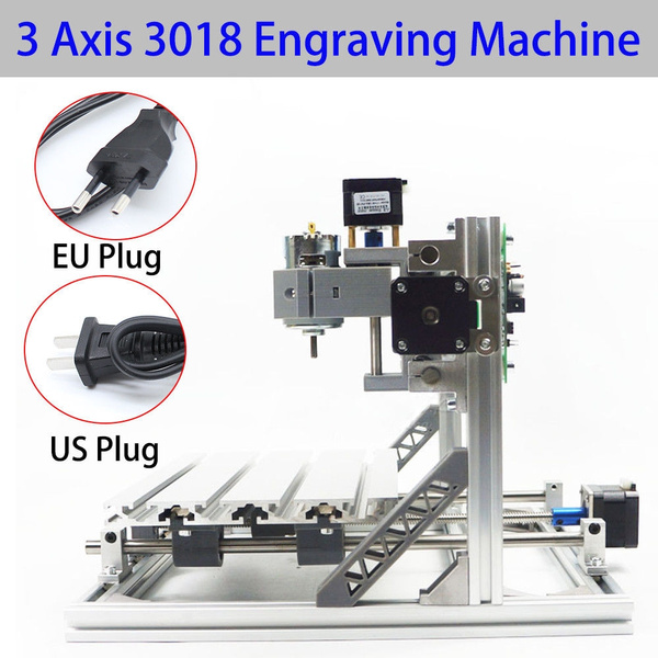 3018 GRBL Control Mini 3 Axis CNC Router Milling Wood Engraving Machine  Printer