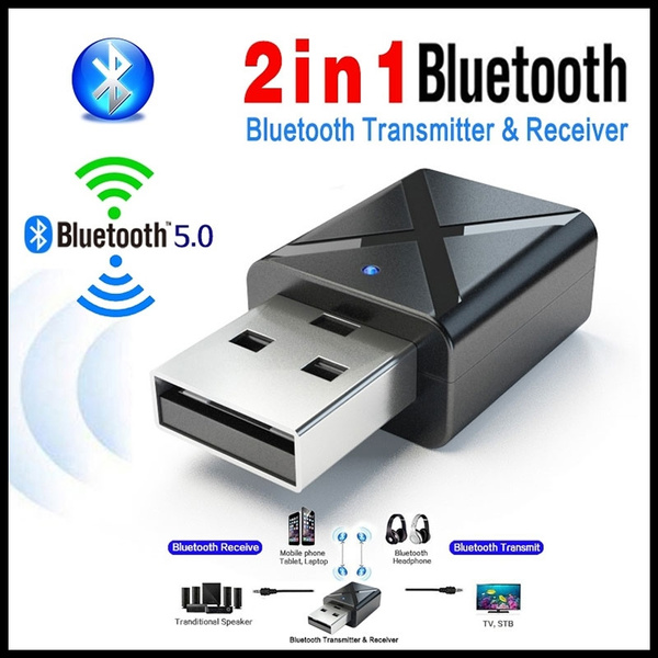 2 in1 USB Wireless Bluetooth 5.0 Audio Music Transmitter Receiver Adapter For TV