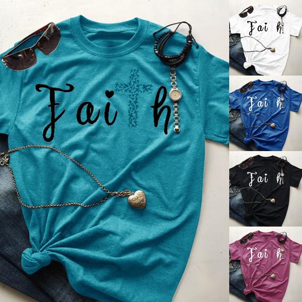faithtshirt, Christian, Gifts, letter print