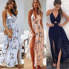 party, Floral print, long dress, Evening Dress