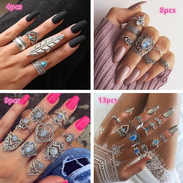 bohemia, Jewelry, crownring, Silver Ring