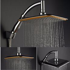 squareshowerhead, Faucets, Bathroom Accessories, chrome