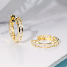 glamorous, DIAMOND, gold, wedding earrings