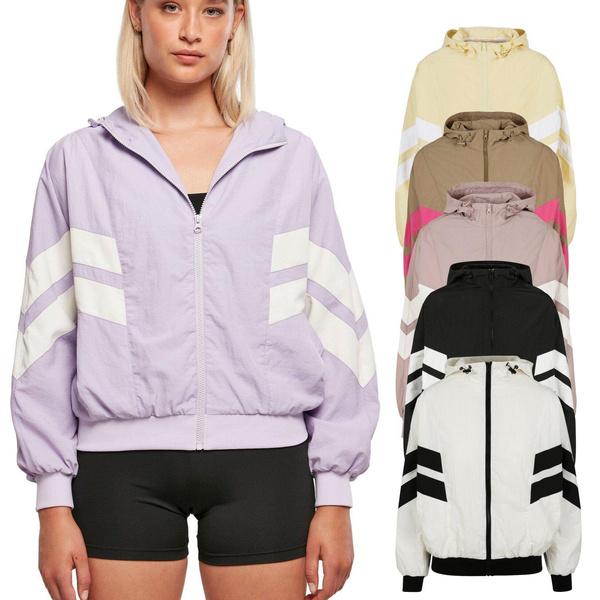 Urban Classics Ladies 3-Tone Crinkle Short Track Jacket