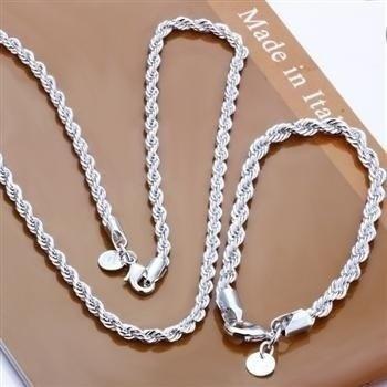 925silverjewelryset, Chain Necklace, Fashion, necklacebracelet