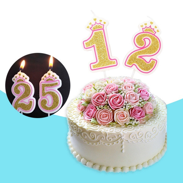 Silver Number 9 Birthday Cake Candle
