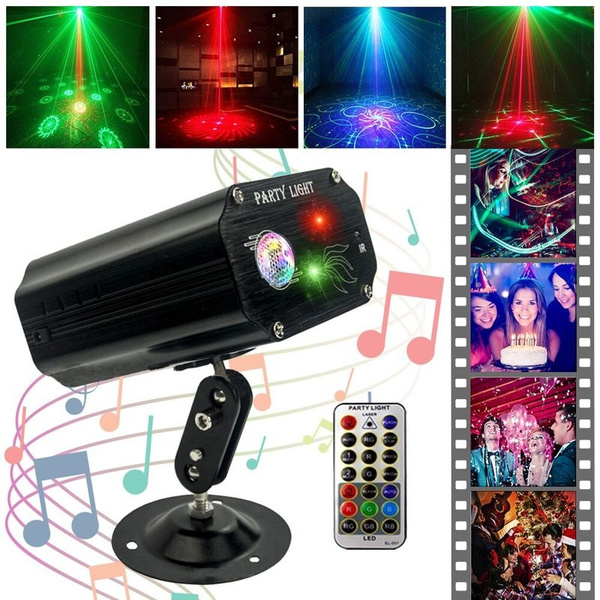 Christmas Light Remote Controls.Party Lights Dj Disco Lights Tongk Strobe Stage Light Sound Activated Multiple Patterns Projector With Remote Control For Parties Bar Birthday Wedding