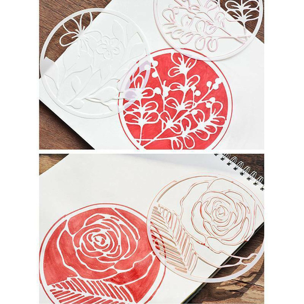 Round Hollow Layering Stencils For Wall Painting Scrapbooking Stamping Embossing