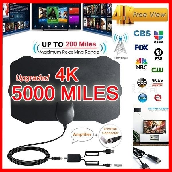 2019 Upgraded Indoor TV Antenna Amplified Digital HDTV 200 Miles Range 4K 1080p
