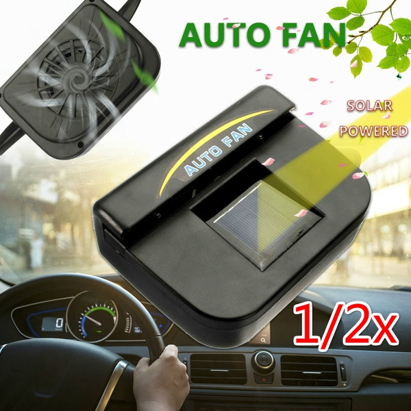 1/2X Car Window Windshield Solar Powered Air Vent Cooling Fan Cooler System  Auto USA