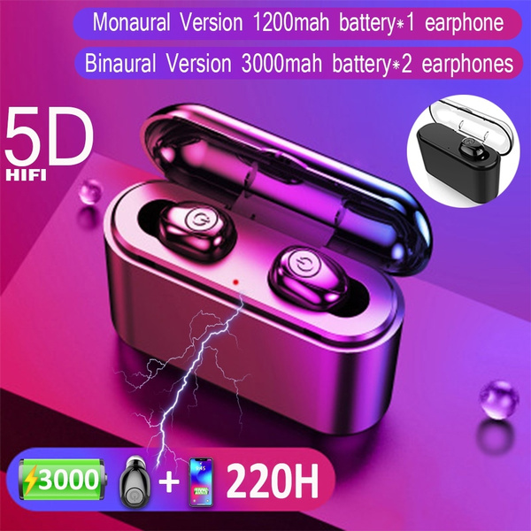 X8 Portable Wireless Bluetooth Headset Built-in 3000mAh/1200mAh Power Bank  for iPhone Samsung iOS Android Phone Charging Hand-free Calling 5D Stereo