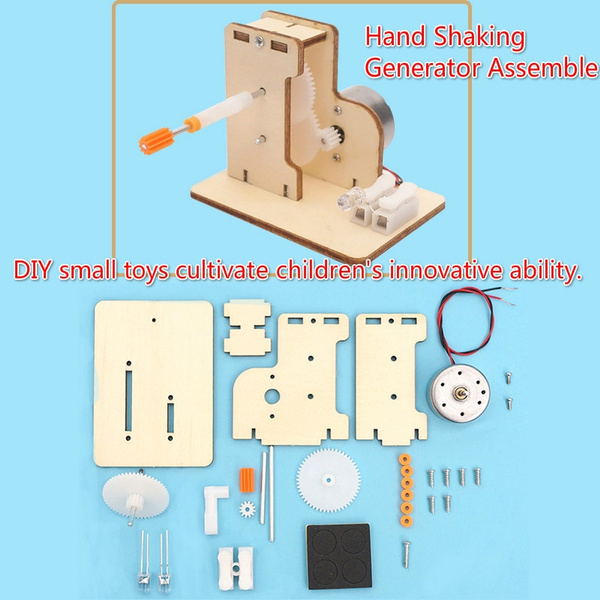 DIY Hand Shaking Generator Assemble Plastic Model Physics Science Toys  Experiment Kits Creative Educational Science DIY Toys for Children