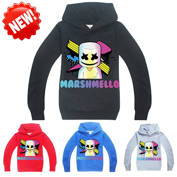 DJ Marshmello Mask Music Kids Boys Hoodie Jumpers sweatshirts Pant  Clothes Sets