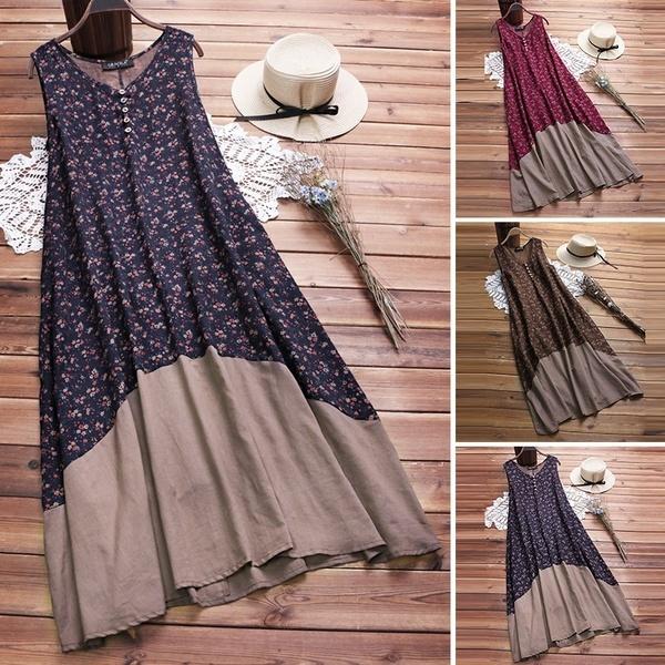 Summer, Plus Size, Vintage Dresses, long dress
