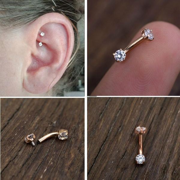 1pc Daith Earring Daith Piercing Cz Cartilage Earrings Eyebrow