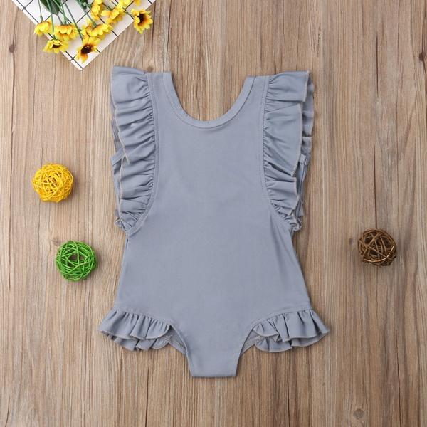 Toddler Kids Baby Girls Ruffled Swimwear Swimsuit Bikini Beachwear Bathing Suit
