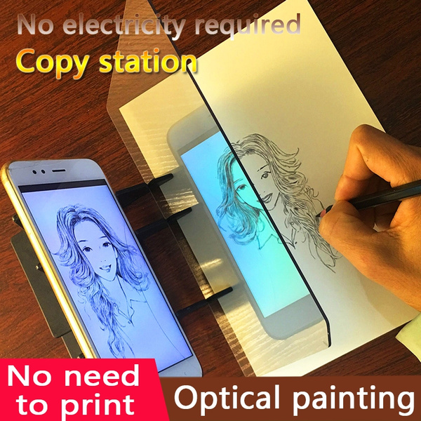 Painting Artifact Optical Drawing Board Tracking Drawing Sketch Tool Kids  Beginners Anime Linyi Painting Phone Projection Optical Painting kit