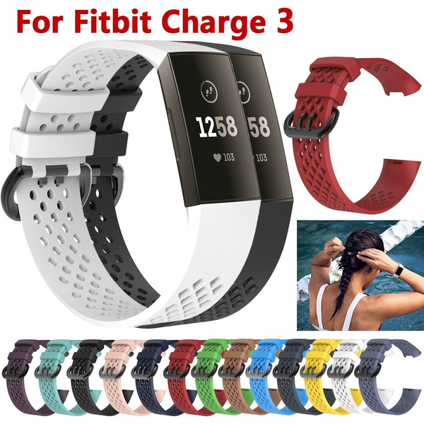 Fitbit SIZE S or L Replacement Silicone Bracelet Watches Sports Band Fitness