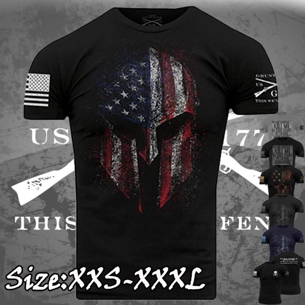 Grunt Style American Spartan 2.0 T-Shirt Black