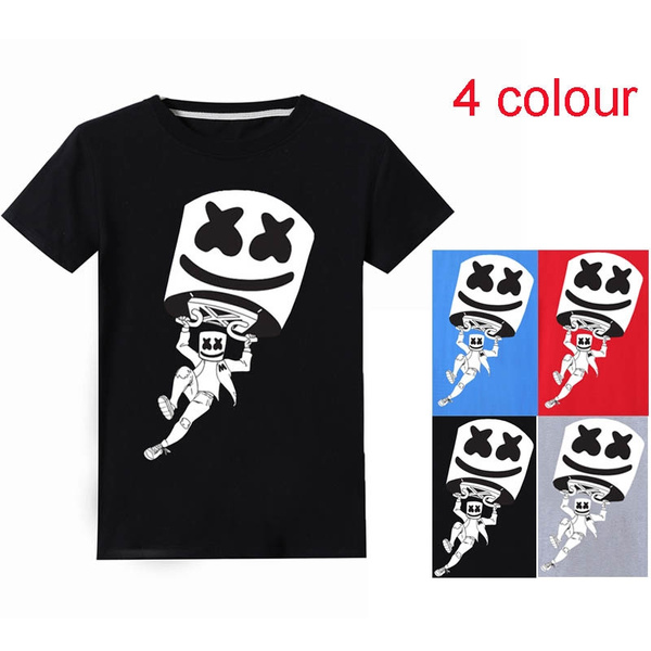 293eae453f 4-14 Years Old Children Summer Marshmello DJ Music Printed T-Shirts Boys  And Girls Tracksuits Kids Tops Casual Tees